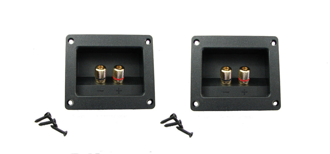 2 Pack Goldwood Sound RGT-3000 Gold Plated Speaker Terminal W/Gasket