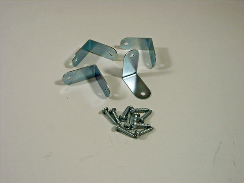 Four Penn Elcom Small Corner Braces- Zinc Finish- W/Mounting Screws     1208X4