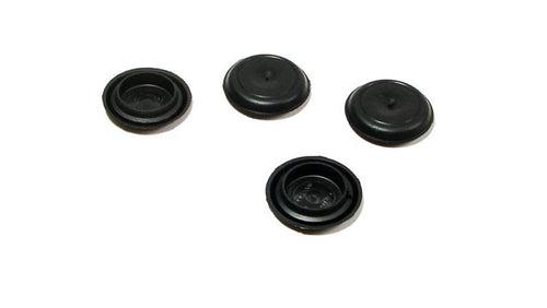 4 NEW Genuine CAPLUGS Flexible 25-26 mm Black Plastic Hole Plugs BPF-25MM
