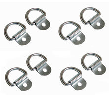 "Load image into Gallery viewer, 8 Pack Steel D-Ring 1/8"" Diameter loop for Truck Trailer ATV   2150"