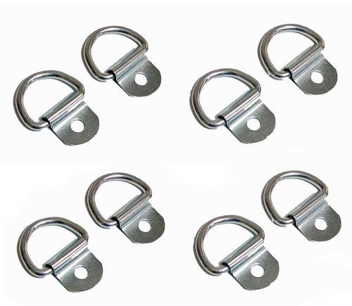 8 Pack Steel D-Ring 1/8