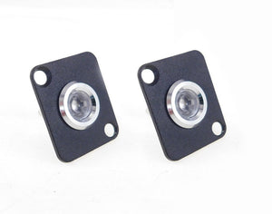 2 Pack Procraft D-Plate W/ 12mm 115v LED Indicator Lamp Clear D-12ZsD.A.L-115-C