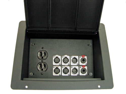ProCraft Pro Audio Recessed Stage Floor Box.1 AC Duplex 8 Channels Any Configs