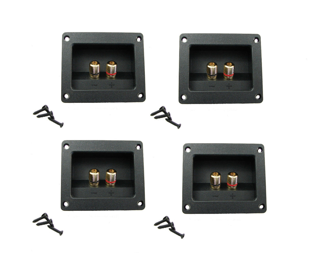 4 Pack Goldwood Sound RGT-3000 Gold Plated Speaker Terminal W/Gasket