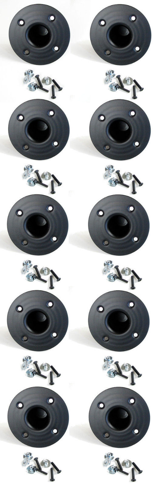 10 Pack Penn Elcom M1551 Steel Pole Mount W/Hardware - Stand Cup - Top Hat