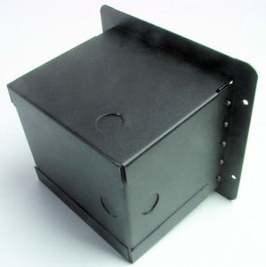 "Recessed Floor Pocket Box. Loaded AC Duplex and PrePunched for 3 ""D"" XLR's"