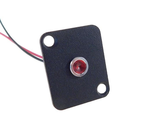 Procraft D-Plate With 6mm 12v LED Indicator Lamp Red    D-6ZSD.X-12-R