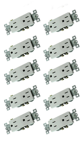 10 Pack RPP White Duplex Decora mounted  33794