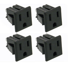 Load image into Gallery viewer, 4 pack AC Outlet, NEMA 5-15R, 3 Wire 15A, Snap-in    32041