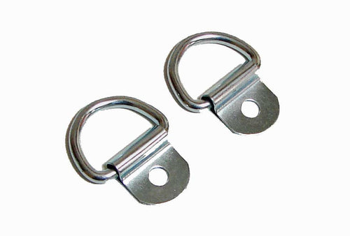 2 Pack Steel D-Ring 1/8