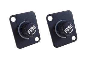 2 Pack Procraft D-Plate With Fuse Holder for 5mm X 20mm Fuses D-5-20