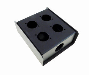 "Steel Project  Box  4 1/2"" x 3-3/4"" x 1 5/8"" Pre-Punched for 5 ""D"" Series XLR's"