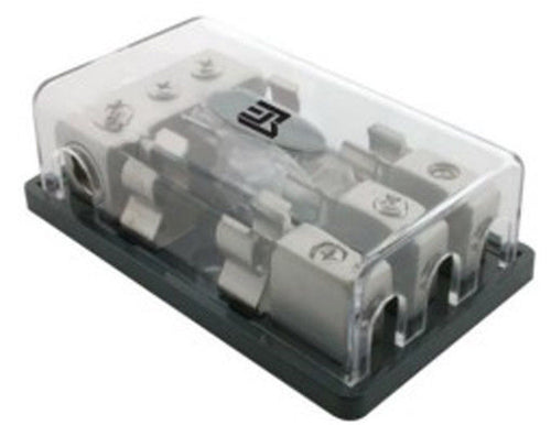 Audio Fuse Block Three 2/4 Ga. In - Three 8Ga. Out       AK111