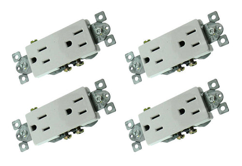 4 Pack RPP White Duplex Decora mounted  33794
