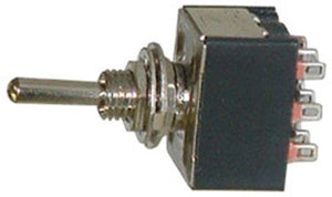 One Miniature 3PDT Toggle Switch 2 Position ON-ON 16075