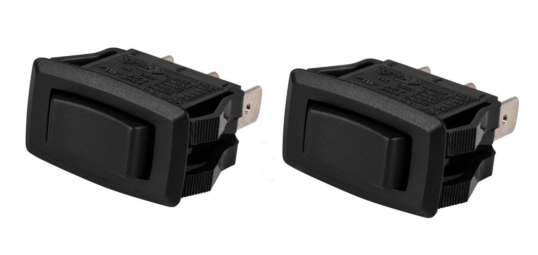 2 Pack Servalite SPDT Snap-In Rocker Switch Center Off 125/250 VAC 069-152