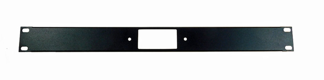1U Procraft Decora AV 16 ga. Formed Aluminum Rack Panel - One Insert
