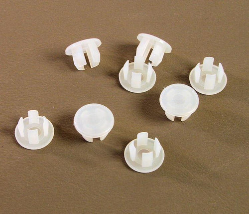 Set of Eight Off White Plastic 7/16