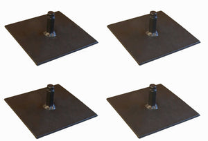 "4 Pack Procraft 6"" Floor Plate Par Can Uplight Base            BP-6-3/8-B"
