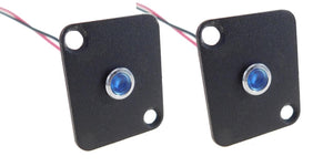2 Pack Procraft D-Plate With 6mm 12v LED Indicator Lamp Blue    D-6ZSD.X-12-B