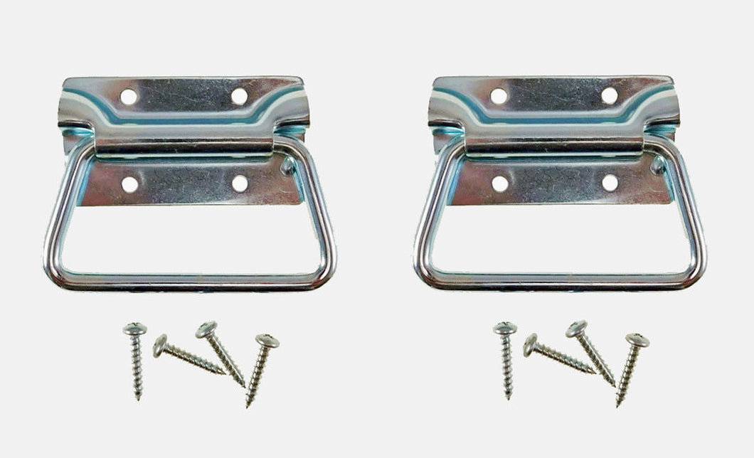 2 Pack Chest Handle Zinc Plated Finish Mounting Screws Included 0540