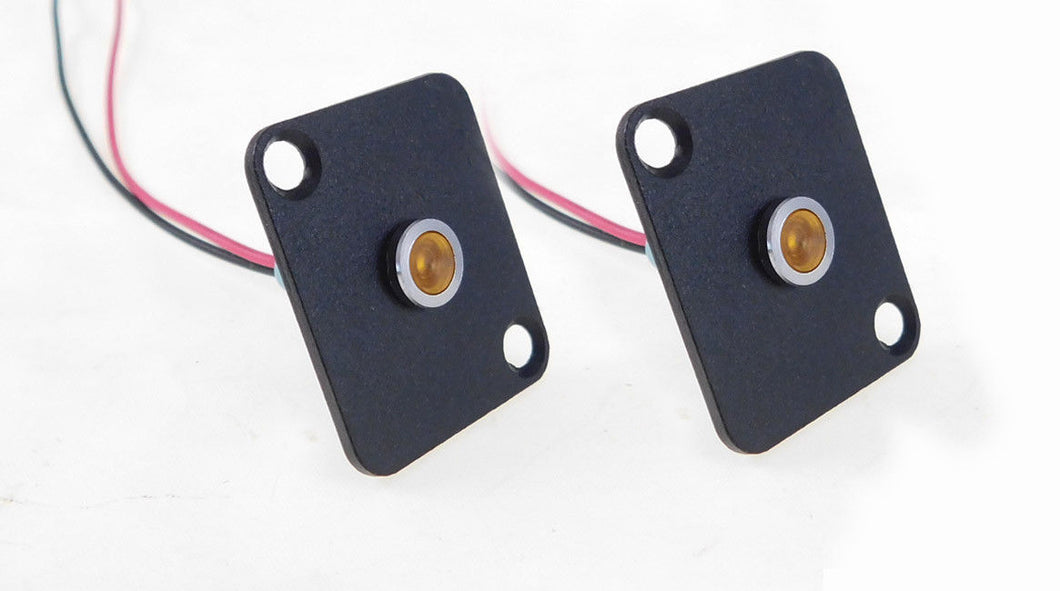 2 Pack Procraft D-Plate W/ 6mm 115v LED Indicator Lamp Yellow   D-6ZSD.X-115-Y