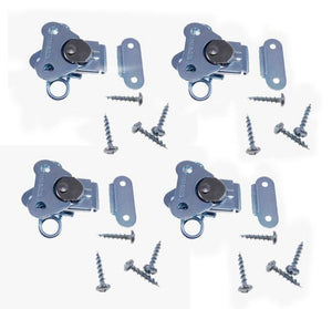 4 Genuine NEW Penn Elcom 7365/0334 Zinc Butterfly Latch & Keeper w/ Screws