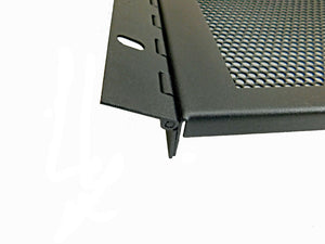 Procraft 4 Space Hinged Vented Steel Rack Panel- Flanged 4U HV-4