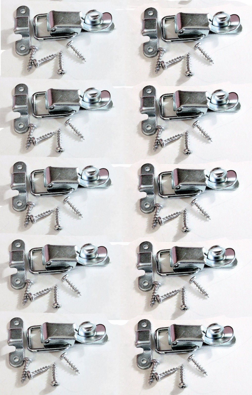 10 Pack Small Penn Elcom 0525 Padlockable Draw Latch w/Screws-Zinc Finish