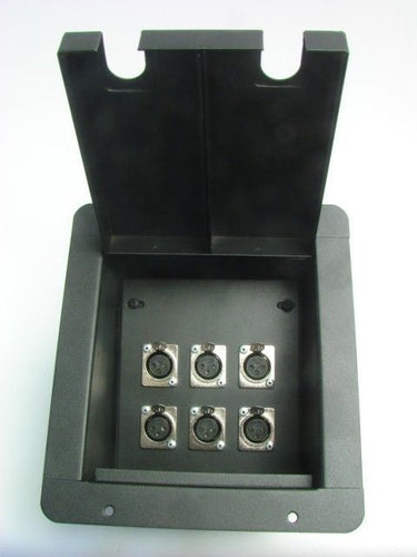 ProCraft Pro Audio Recessed Stage Floor Pocket Box 6 Channel Any Config