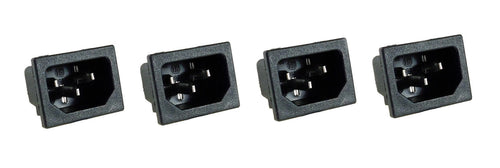 4 Pack AC Power IEC Standard C-14 Inlet Connector Snap-In R-301SN