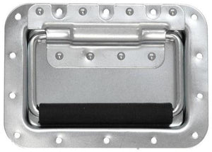 "Large Heavy Duty Recessed Handle - 7"" X 5"" X 5/8"" - Zinc Plated Finish  0520"
