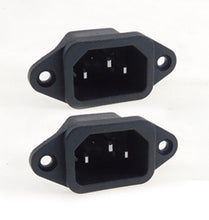 Load image into Gallery viewer, 2 Pack AC Power IEC Standard C-14 Inlet Connector Flange Mount