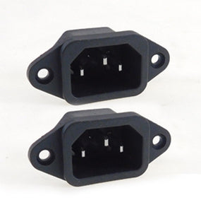 2 Pack AC Power IEC Standard C-14 Inlet Connector Flange Mount
