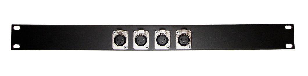 1U Procraft 4 Channel Female XLR Rack Panel     AFP1U-4XF-BK