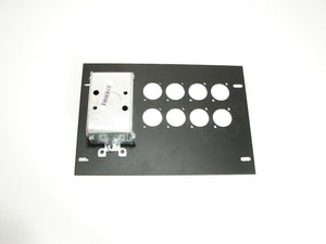 ProCraft Pro Audio Recessed Pocket Floor Box.8 D Mount Openings and 1 AC Duplex