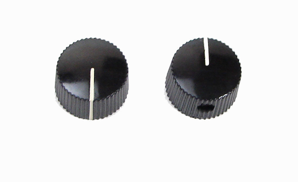 2 Pack Black Phenolic Amplifier Knob with Ivory Indicator Line           Z408015