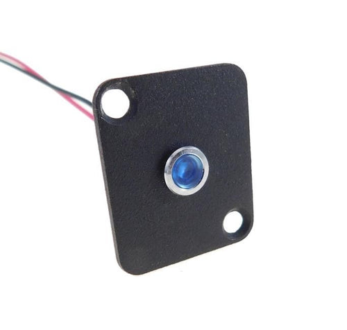 Procraft D-Plate With 6mm 12v LED Indicator Lamp Blue    D-6ZSD.X-12-B