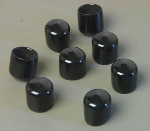 "8 Pack Vinyl Caps-Fits 3/4"" to13/16""- 3/4"" Inside Height      VC-750-75-B"