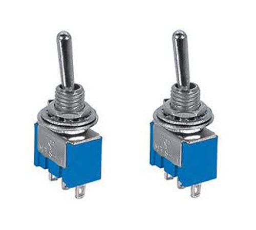 Pair Miniature SPDT Toggle Switches 2 Position ON-ON SW104