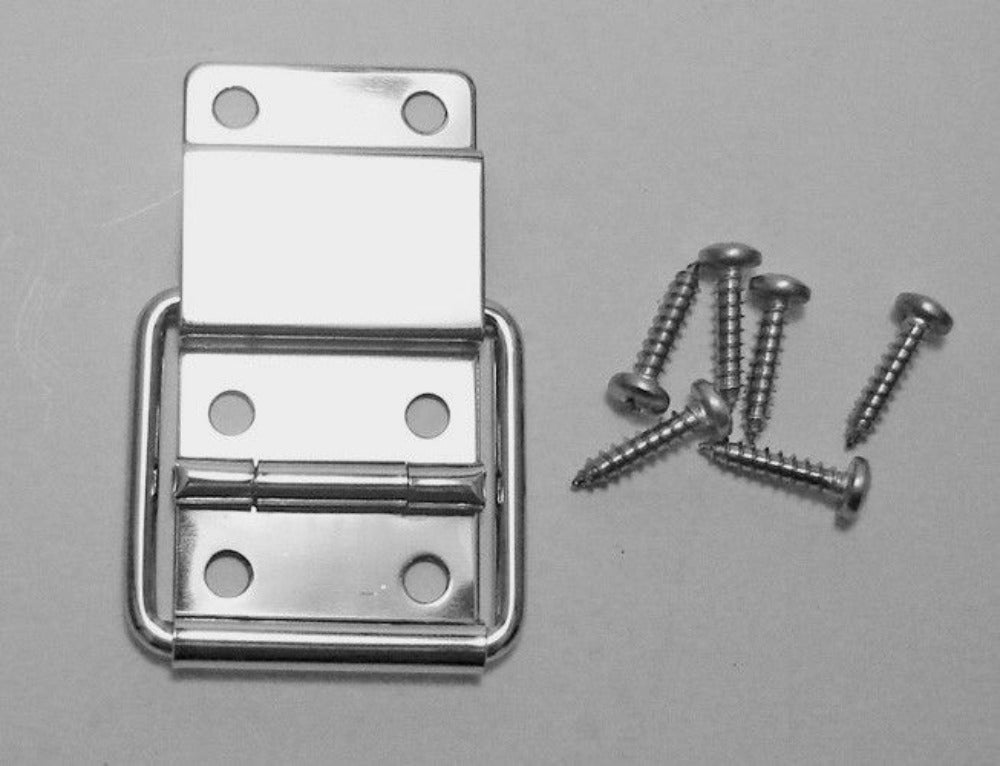 One Penn Elcom Small Stop Hinge with Screws- Nickle Finish - P1990N