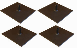 "4 Pack Procraft 8"" Floor Plate 1/2"" Par Can Uplight Base       BP-8-B"