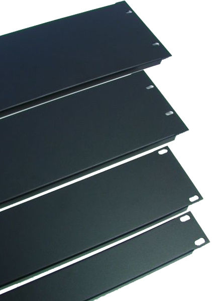 Procraft 2 Space 16 ga. 2U Formed Aluminum Rack Panel- Black     RF2-FP