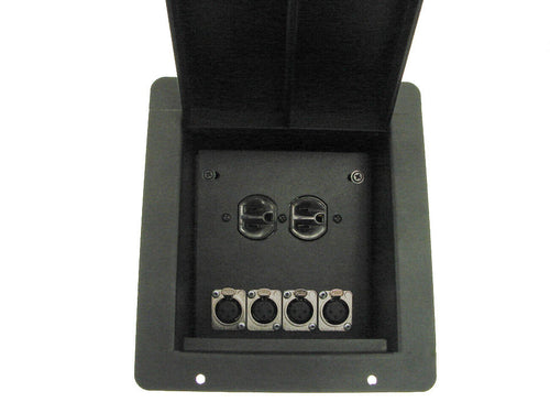 ProCraft Pro Audio Recessed Stage Floor Box.1 AC Duplex 4 Channel Any Config