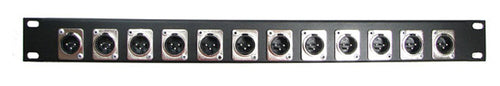 1U Procraft 12 Channel Male XLR Rack Panel     AFP1U-12XM-BK