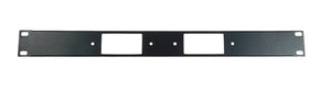 1U Procraft Decora AV 16 ga. Formed Aluminum Rack Panel - Two Inserts