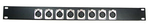 1U Procraft 8 Channel Female XLR Rack Panel     AFP1U-8XF-BK