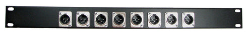 1U Procraft 8 Channel Male XLR Rack Panel     AFP1U-8XM-BK