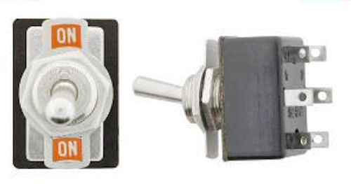 One Light Duty Full Size Toggle Switch DPDT On-On       SW113