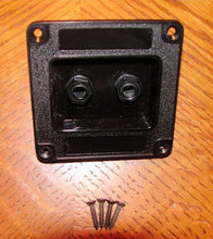 "Load image into Gallery viewer, Penn Elcom M1500-C Plastic Jack Dish W/ Two 1/4"" and Mounting Screws"